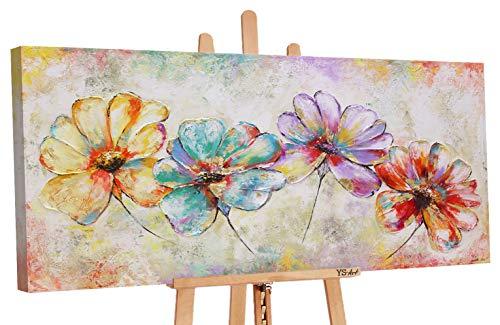 YS-Art Premium | Cuadro Pintado a Mano Hermosas Flores | Cuadro Moderno acrilico | 120x60 cm | Lienzo Pintado a Mano | Cuadros Dormitories | único | PS007
