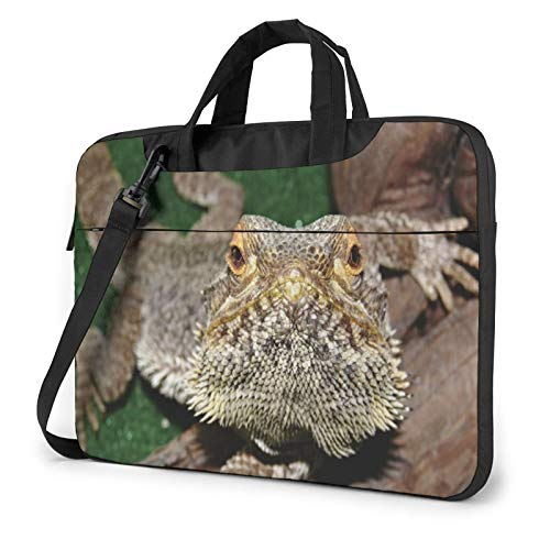 Bearded Dragon Lizard Laptop Shoulder Messenger Bag,Laptop Shoulder Bag Carrying Case with Handle Laptop Case Laptop Briefcase 13 Inch Fits 13 inch Netbook/Laptop