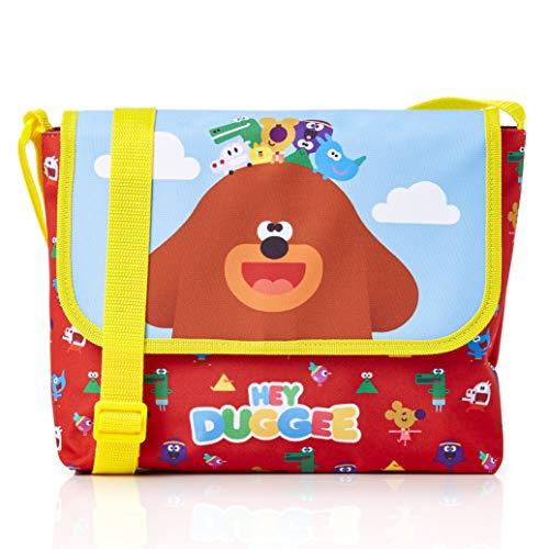 Hey Duggee Kleine Kinder Messenger Tasche - Kleine Rucksäcke für Kinder Kindergartenrucksack Kinderrucksack - Langer Crossbody Träger - Geschenk Für Mädchen Jungen