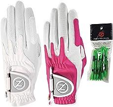 دستکش زنانه صفر با اصطکاک فشرده سازی دستکش گلف مصنوعی 2 بسته ، شامل بسته سه راهی رایگان ، جهانی-متناسب