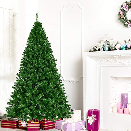 La fete 7.5 FT Artificial Christmas Tree, Hinged Douglas Pine Xmas Tree with Metal Legs, Premium...