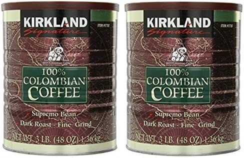 Kirkland Signature Signature Swa 100 Colombian Coffee Supremo Bean Dark Roast Fine Grind 3 Pound product image