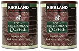 Kirkland Signature Signature Swa 100% Colombian Coffee, Supremo Bean Dark Roast-Fine Grind, 3 Pound (2 Cans)