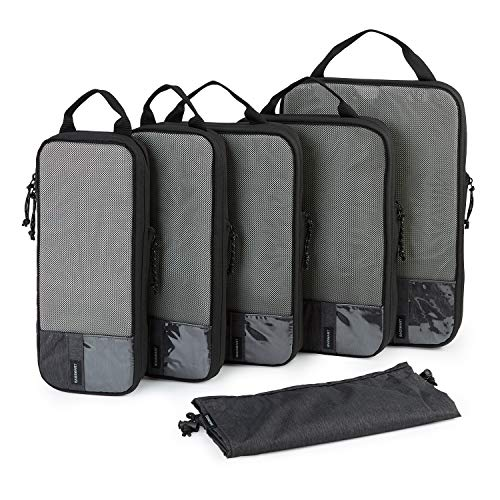 Packing Cubes, BAGSMART 6 Set Packing Organizers for Travel, Expandable Luggage Organizer for Carry on Luggage, Compression and Lightweight Suitcase...