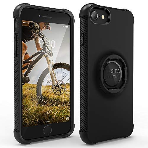 TUSITA Custodia Disegnato per Apple iPhone 6 6S 7 8 SE 2020 - Bici Supporto Cover Protettiva per Cellulare - Accessori per Smartphone