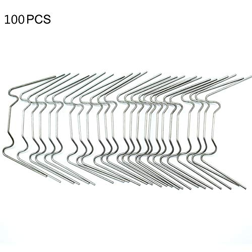 Infilm 100 Stück Edelstahl-Verglasungs-Clips, W-Draht, für Gewächshaus, Glasscheiben, Befestigungs-Clips