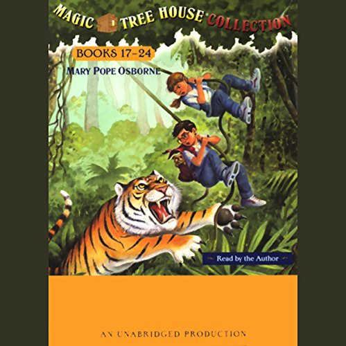 Magic Tree House Collection     Books 17-24              By:                                                                                                                                 Mary Pope Osborne                               Narrated by:                                                                                                                                 Mary Pope Osborne                      Length: 5 hrs and 4 mins     733 ratings     Overall 4.6