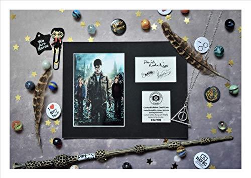 Exhibición de autógrafo firmado por Daniel Radcliffe, Emma Watson y