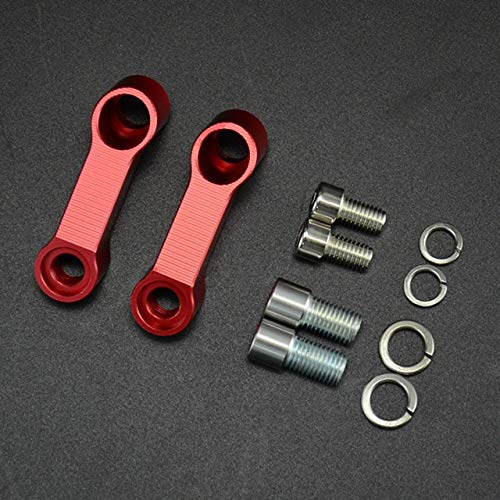Yeyoucoc 10mm 8mm Motorcycle Retroview Espejos extensión extensión de extensión Adaptador (Color : Red)