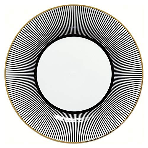 Greengate Corine Noir Assiette à Petit-déjeuner en Porcelaine Noir Ø 20 cm