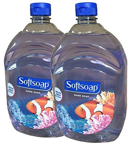 Softsoap Liquid Hand Soap, Aquarium Series, 64 Oz Refill Bottle, Pack Of 2