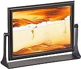 infactory Sand Kippbild: Sandbild Eldorado mit schwenkbarer Fassung aus Metall, 13 x 18 cm (Harmonische Sandbilder) -