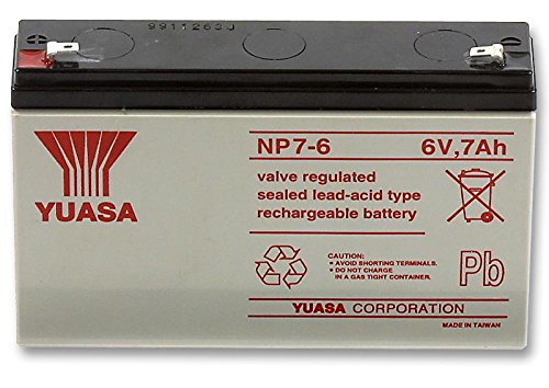 Batteries - Rechargeable - BATTERY 6V 7AH - NP7-6