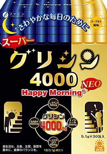 ファインスーパーグリシン4000HappyMorningNEOグリシン4000mgテアニン50mg配合30包入(1日1包/30日分)