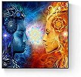 Lienzos De Fotos Tantra Shiva y Shakti imprime dioses hindúes abstractos amante...