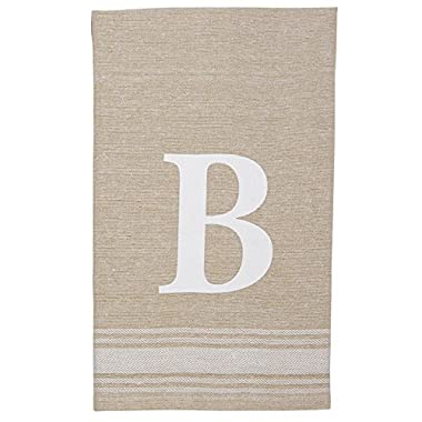 Mud Pie 4405177B Grainsack Chambray Initial Towel B