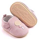LÄTT LIV Baby Boys Girls First Walking Shoes Toddler Knit Cartoon House Slippers Lightweight Infant Sneakers Non-Slip(Pink B,6-12 Month)