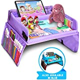 Kids Travel Tray, Kids Art Set, Travel Art Desk for Kids, Activity, Snack, Play Tray & Organizer - Keeps Children Entertained  Portable and Foldable + Storage Bag