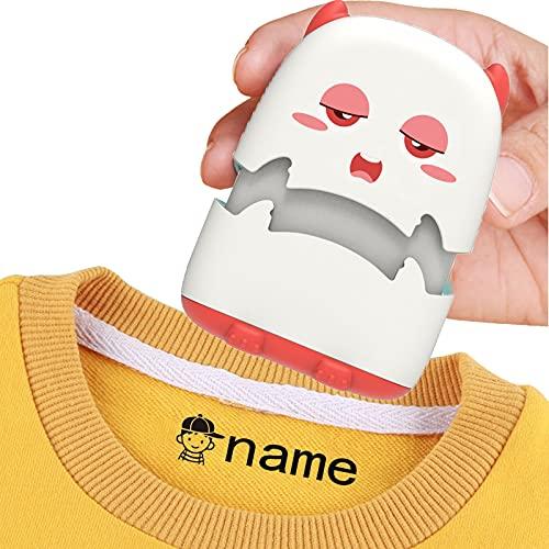 Sello de nombre para ropa, Sello de nombre, Sellos personalizados para ropa de niños, Sello de tela para ropa, Sello de nombre impermeable para niños Sellos de firma (blanco)
