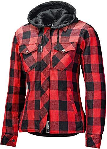 Held Lumberjack II Motorrad Textiljacke Schwarz/Rot L