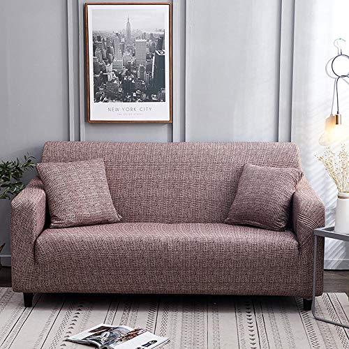 flqwe Bedruckte Sofa-Schonbezug FüR 1 2 3 4-Sitzer-Couch,All-Inclusive-Sofabezug aus elastischem Spandex, Sofabezug-Kombination-U_1-Sitz 90-140 cm,Sofa Protector Slip Cover Waschbar