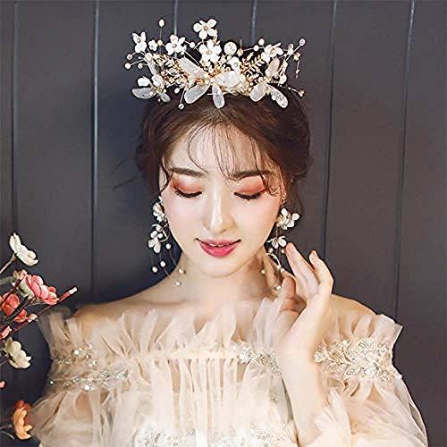 QWEASD Headdress Romantische Headdress Bloem Parel Mooie Delicate Bruiloft Jurk Bruiloft Haaraccessoires Super Fee Kroon