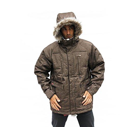 Jacke Winter Snowboard Ski Jacket Foursquare Ruff Herringbone schwarz L