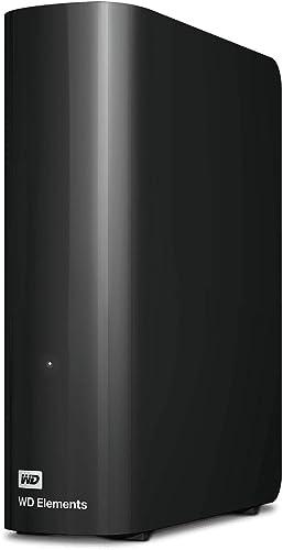 WD 14 TB Elements Desktop External Hard Drive - USB 3.0, Black