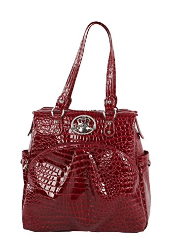 Kathy Van Zeeland Luggage Croco PVC 16' Shopper Bag (16in, Burgendy)