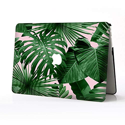 BERYLX Laptop Cases for Newest Macbook pro 13 inch,Green Leaves 01 Pattern Design Printed Hard Plastic Protective Covers Case Compatible Macbook Pro 13' A1706/A1989/A1708