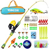 YONGZHI Kids Fishing Rod and Reel Combos,Protable Telespic Fishing Pole,Smooth Spincast Reel and a...