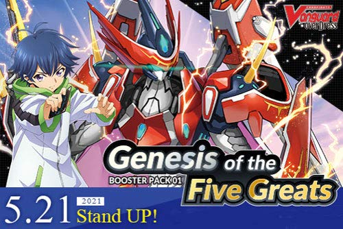 Cardfight! Vanguard Overdress Genesis of The Five Greats CFV VGE-D-BT01 Booster Box - 16 Packs