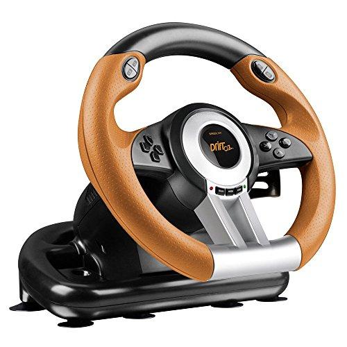 SPEEDLINK DRIFT O.Z. Racing Wheel PC, black-orange (Zertifiziert und Generalüberholt)