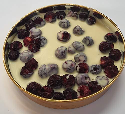 ChocoLaden - Goldbox weiße Schokolade mit ganzen Sauerkirschen -HANDGEMACHT-
