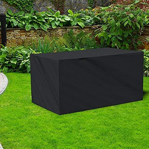 Artículos para el hogar Muebles WjAnti-UV a Prueba de Agua a Prueba de Polvo Sillas Mesa Plegable 210D Oxford Tela Cubierta Protectora al Aire Libre Juego de Tapas, tamaño: 270 * 180 * 89cm (Negro)