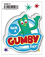 GUMBY-01 HAVE A GUMBY DAY! ガンビー クレイアニメ アメリカン雑貨 アメリカ キャラクター ステッカー