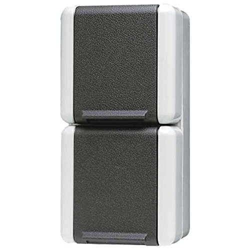 Jung 822 W stopcontact SCHUKO 822W 2-voudig, zwart, wit