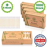 DERMATEST: SEHR GUT - TRUE NATURE [1000 Stück] Zero Waste Bambus Wattestäbchen - Q Tips ohne...