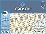 """Blocco per acquarello""""Canson Aquarelle"""" 60% cotone cm.23x31 grana torchon 300"""