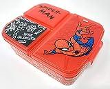 Spiderman Brotdose mit 3 Fächern, Kids Lunchbox,Bento Brotbox für Kinder - ideal für Schule, Kindergarten oder Freizeit