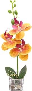 GXLMII Mini Artificial Flowers Bonsai Lifelike Real Touch Arrangement Phalaenopsis Silk Orchid Wedding Party Home Centerpiece Décor