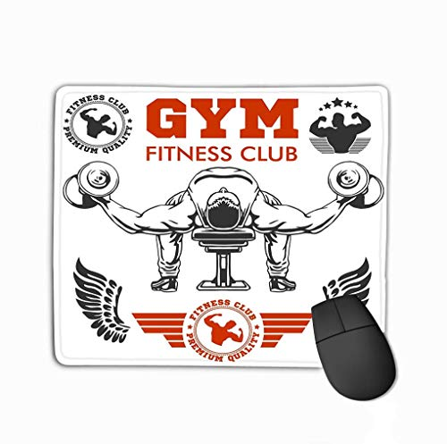 Culturista Grande Culturismo Fitness Logotipos Emblemas Iconos Deportivos Logotipo Blanco Signo Símbolo Sala Elemant Gimnasio