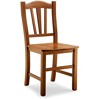 Sedie In Legno Arte Povera.Milani Home S R L S Sedia In Legno Tinta Noce Per Interno Sala Da