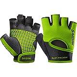 KletterhandschuheFitnesshandschuhe rutschfeste Sportschutzausrüstung-L green Fahrradhandschuhe