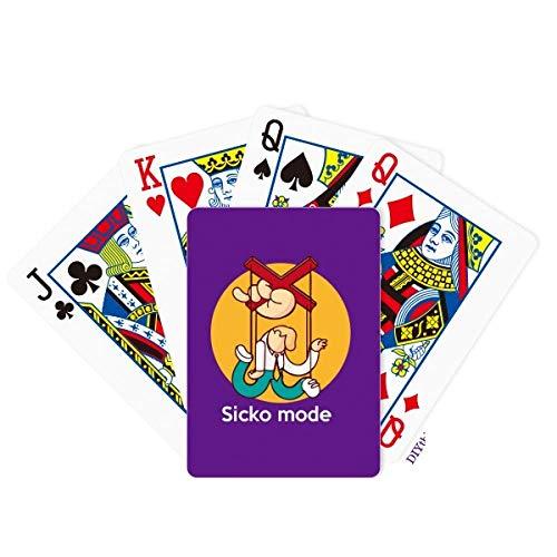 OFFbb-USA Inglés Clásico Emotional Lyrics Mode Poker Jugando a la carta Juego de mesa
