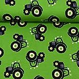 MAGAM-Stoffe Traktor Ben grün Jersey Stoff Oeko-Tex