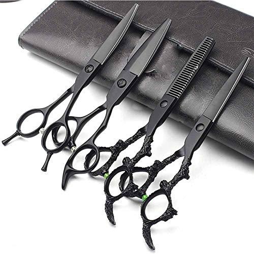 JUYHTY Schaar, kapper uitdunnen haarknippen stylist special set professionele kappersschaar 6 inch platte snede, A
