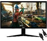 Flagship Acer KG241 bii 24' 1920 x 1080 FHD 75Hz Refresh Rate 250 cd/m² Brightness AMD FreeSync 1ms(GTG) Response Gaming Monitor VGA Inputs Twisted Nematic (TN) Panel VGA Port + iCarp HDMI Cable