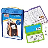 hand2mind VersaTiles Reading Practice Take Along Grade 5 Reading Workbook, Reading Puzzle For Kids, Independent Activities, Math Game For Fifth Grade, Kids Homeschool Supplies