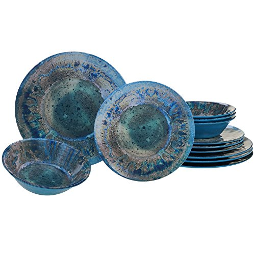 Certified International Radiance Teal Melamine 12 pc Dinnerware Set $61.99 (52% OFF)